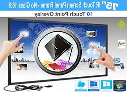 LCD/LED 10 Touch IR Overlay Touch Screen Frame Panel Interac