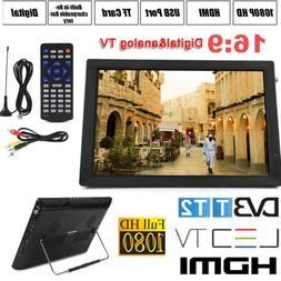 """Portable 14"""" Digital TV 1080P HD TFT LED Car USB HDMI TV Vid"""