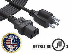 12 Ft Ac Power Cord Cable for Samsung Toshiba LG Vizio Sony