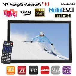 """14"""" Portable 16:9 Digital Television 1080P TV Video Player T"""