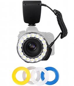 Polaroid 18 Super Bright Macro SMD LED Ring Flash & Light In