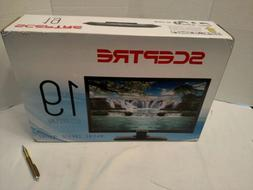 "Sceptre 19"" Class HD  LED TV  with Built-in DVD Player NEW"