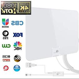 1byone 50 Miles Amplified HDTV Antenna with Amplifier Booste