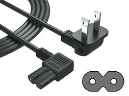 2 Prong 6 Ft AC Wall Power Cord for LCD LED TV Philips, Pana