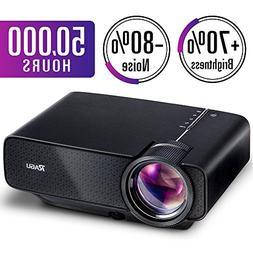 2018 Upgraded RAGU Z400 Mini Portable Movie Projector, Home