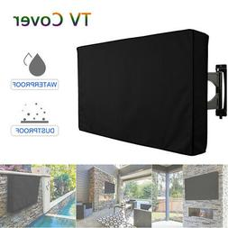"""22-70"""" Outdoor TV Cover Dust Waterproof Moving Enclosure For"""