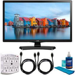LG 24LH4830-PU 24-Inch Smart LED TV  w/ Accessories Bundle