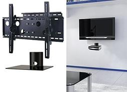 2xhome – NEW TV Wall Mount Bracket  & Single Shelf Package