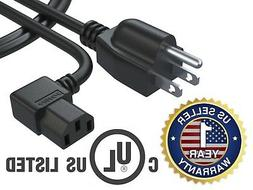 3 Ft AC Power Cord Cable for Samsung Toshiba LG Vizio Sony T