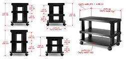 Aleratec 3-Tier LCD | LED TV Stand Entertainment Rack Wheels