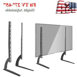 "Universal Table Top TV Stand for 27- 65"" LCD LED Height Adju"