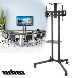 "32-70"" Rolling Mobile TV Cart Stand LED Flat Screens Adjusta"