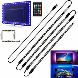 4 x 50CM TV LED Backlight USB 5050 RGB LED Strip Light Remot