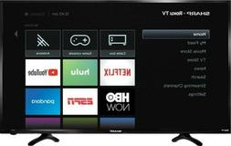 "Sharp - 40"" Class - LED - 1080p - Smart - HDTV Roku TV - Bla"
