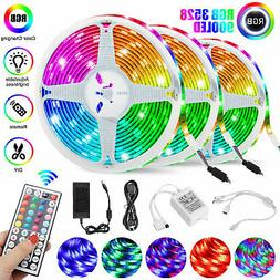 49FT Flexible Strip Light 3528 RGB LED SMD Remote Fairy Ligh