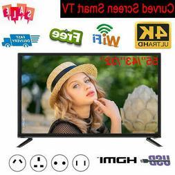 55Inch Smart TV 4K HD LED WIFI Network HD HDMI USB AV VGA fo