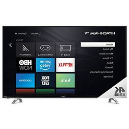 "Hitachi 55RH1 55"" UHD with HDR Roku Smart LED TV, Black"