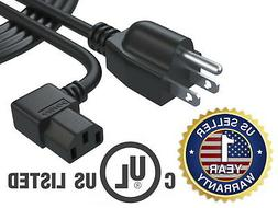 6 Ft AC Power Cord Cable for Samsung Toshiba LG Vizio Sony T