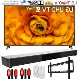 "LG 75UN8570PUC 75"" UHD 4K HDR AI Smart TV  with Deco Gear So"