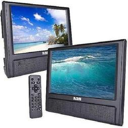 """9"""" Portable Dual Screen DVD Player Video Game Player AV Cabl"""