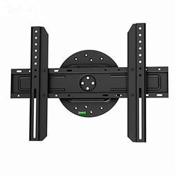 Black Full-Rotation Fixed/Flat Wall Mount Bracket for Vu And
