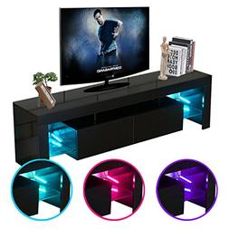 Civigrape LED TV Stand, High Gloss Modern 60'' TV Cabinet Li