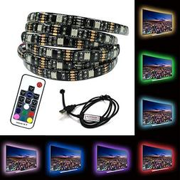 LED USB Strips Bias Backlight RGB Lights with RF Remote Cont