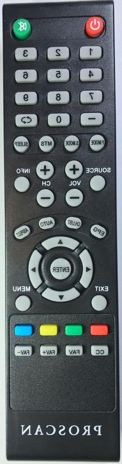 New TV Remote for PROSCAN PLDED4017 PLDED4016A-D PLDED3996A-