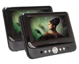 Proscan 7-Inch Dual Screen Portable DVD Player with USB/SD C