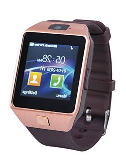 Proscan PBTW360-RSGOLD Bluetooth Camera Smart Watch, Gold
