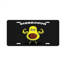 Pulongpoq License Plate frame - Avocado Fitness Exercise - C