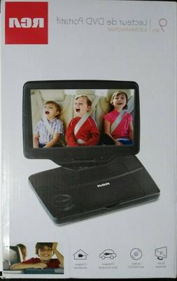 """RCA 9"""" Portable DVD Player  with Swivel Screen Black  Open B"""