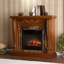SEI Southern Enterprises Cardona Electric Fireplace, Walnut