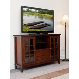 Stratford Auburn Brown TV Stand. This TV Stand For Flat Scre