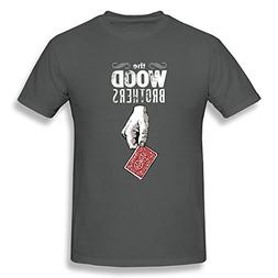 Toovee Men's Black The Wood Brothers Tour 2016 T Shirt