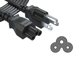 Pwr+ IEC320 C5 to NEMA 5-15P Extra Long 15 Ft 3 Prong TV Po