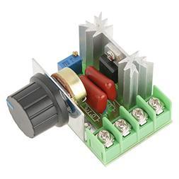 AC 50-220V 2000W 25A AC Motor Speed Controller Adjustable Vo
