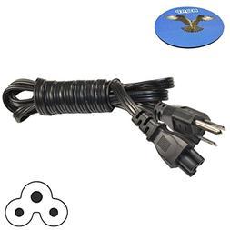 HQRP 5ft AC Power Cord for Casio XJ-A250V XJ-A251 XJ-A252 XJ