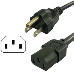 HQRP 10ft AC Power Cord for Panasonic TH42PA20U TH42PA20UP T