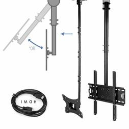 "Adjustable Flip Down Ceiling TV Mount up to 75"" LCD LED Plas"