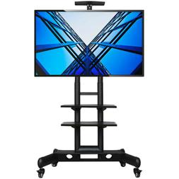 Adjustable Mobile TV Stand Cart LCD/LED Flat Screens w/ Whee