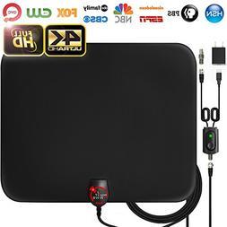 Amplified HD Digital TV Antenna Long 60 Miles Range – Sup
