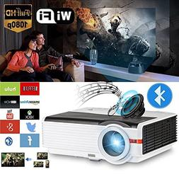 HD Wireless Projector WiFi Bluetooth Android 6.0 2018 Upgrad