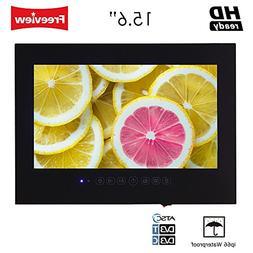 """Soulaca 15.6"""" Bathroom Waterproof LED TV in Black Color T156"""