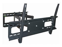 Black Full-Motion Tilt/Swivel Wall Mount Bracket for Hitachi