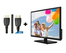 "24"" Class FHD  LED TV  Plus HDMI 2.0 Cable with Ethernet Hig"