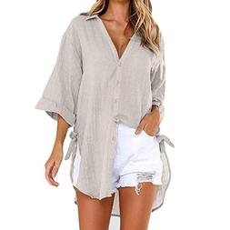 Clearance Sale! Seaintheson 2018 New Womens Loose Button Lon