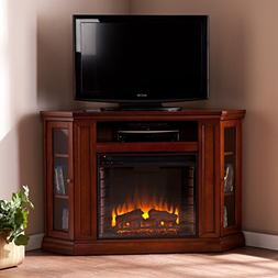 Convertible Electric Fireplace with Cabinet , TV Media Stand