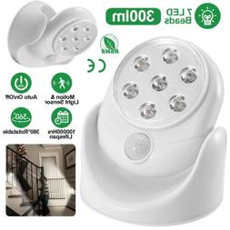 Cordless Motion Activated Sensor 300LM LED 360°Rotate Indoo
