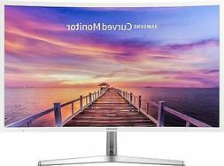 "New Samsung 32"" Full HD Curved LED Monitor Glossy White VGA"